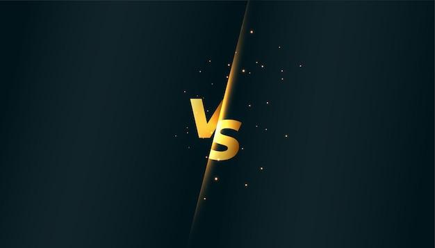 Verus vs banner voor productvergelijking of sportgevecht