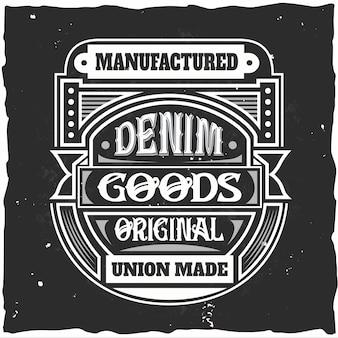 Vervaardigde goederen originele unie gemaakt