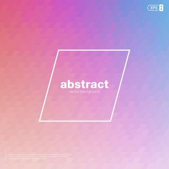 Vervagen nevelvlek mozaïek vector roze achtergrondkleur de elementen zijn plus vormen