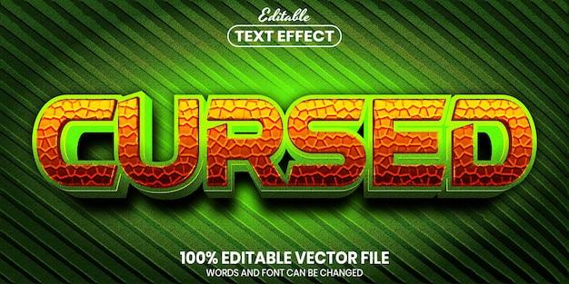 Vervloekte tekst, bewerkbaar teksteffect in lettertypestijl