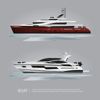 Vervoer boot toeristisch jacht om te reizen