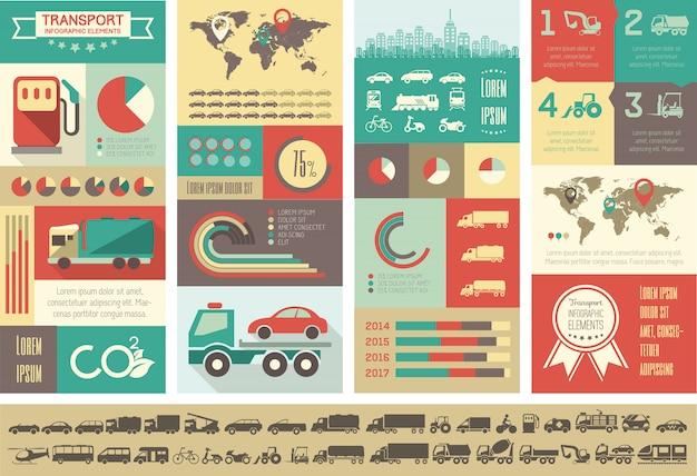 Vervoer infographic sjabloon.