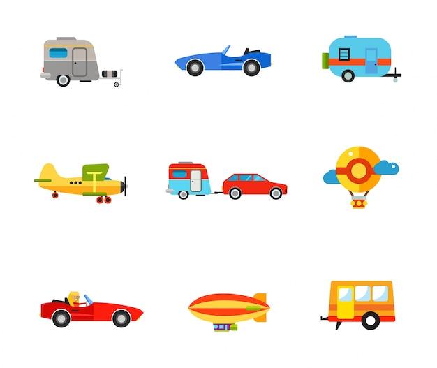 Vervoer pictogram set