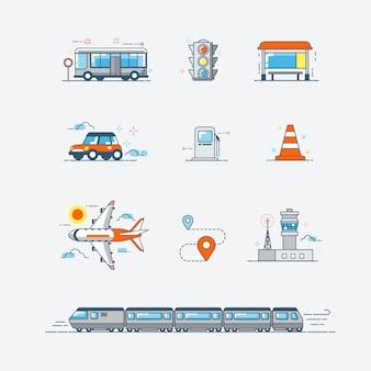 Vervoer pictogrammen