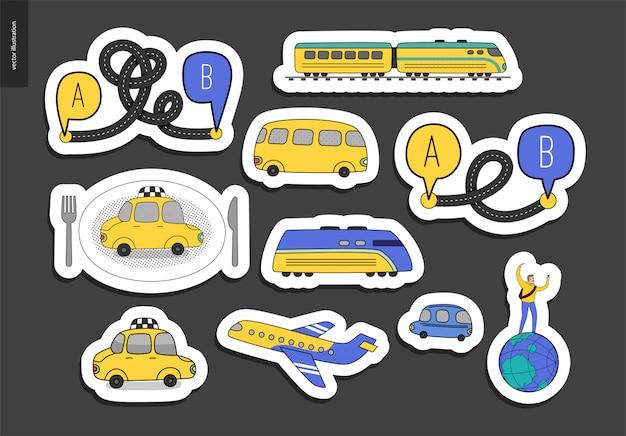 Vervoer stickers