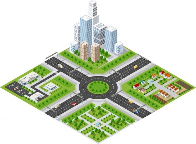 Vervoer straten in de stad