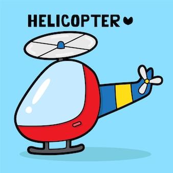 Vervoer voertuig cartoon met woordenschat helikopter