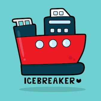 Vervoer voertuig cartoon met woordenschat icebreaker