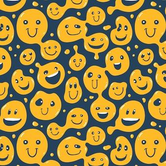 Vervormde glimlach emoticon patroon