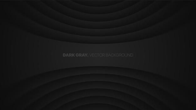 Vervormde lijnen met wazig effect donkergrijze futuristische technologie abstracte achtergrond