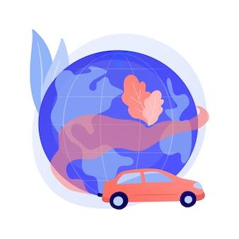 Vervuiling door motorvoertuigen abstract concept