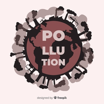 Vervuiling veroorzaakt door industriële fabrieken