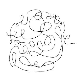 Verwarde abstracte krabbel met handgetekende lijn doodle-elementen