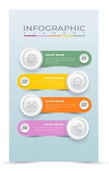 Verwerk infographic sjabloonstijl