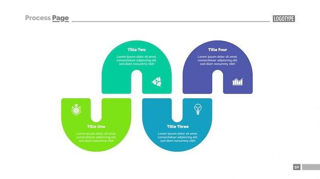 Verwerk infographics met vier elementen