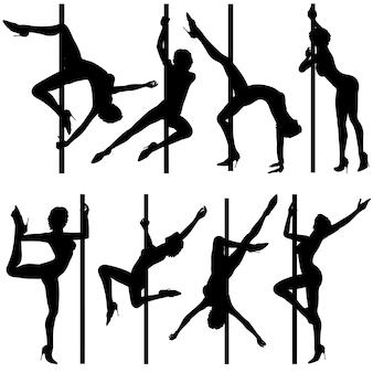 Verzamel dansende silhouetten