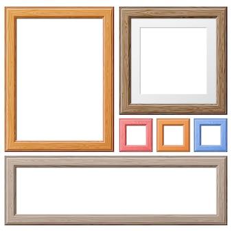 Verzamel houten lijsten