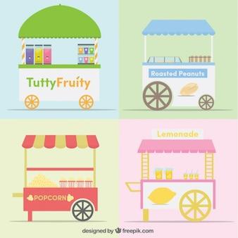 Verzamelen van voedsel trolley