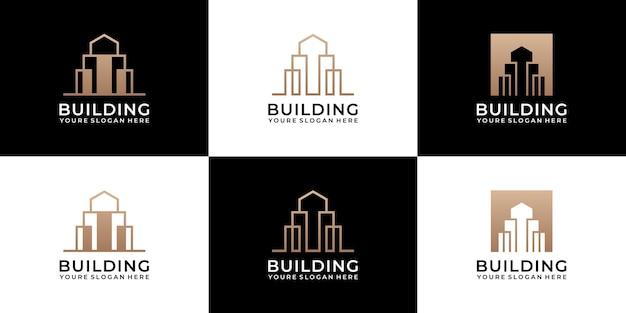 Verzameling architectuursets voor gebouwen