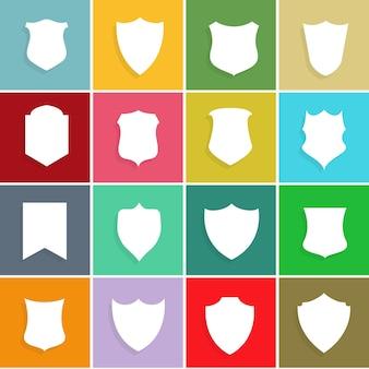 Verzameling badges en labelsymbool