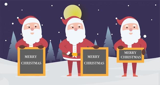 Verzameling banner vrolijke kerstmis