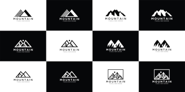 Verzameling berg vector logo sjabloon
