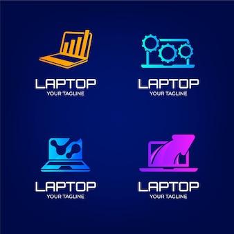 Verzameling computerlogo-sjablonen