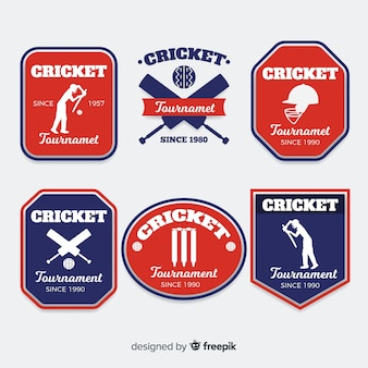 Verzameling cricketetiketten