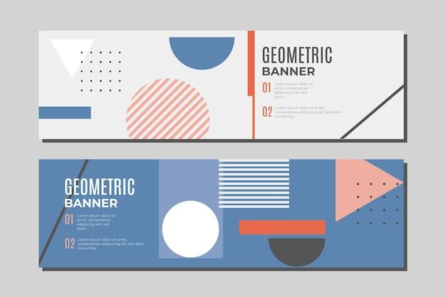 Verzameling geometrische banners