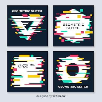 Verzameling glitch geometrische vormen