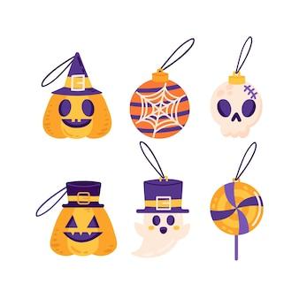 Verzameling halloween-elementen