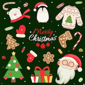 Verzameling kerstelementen