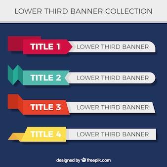 Verzameling kleurrijke banners met tekst