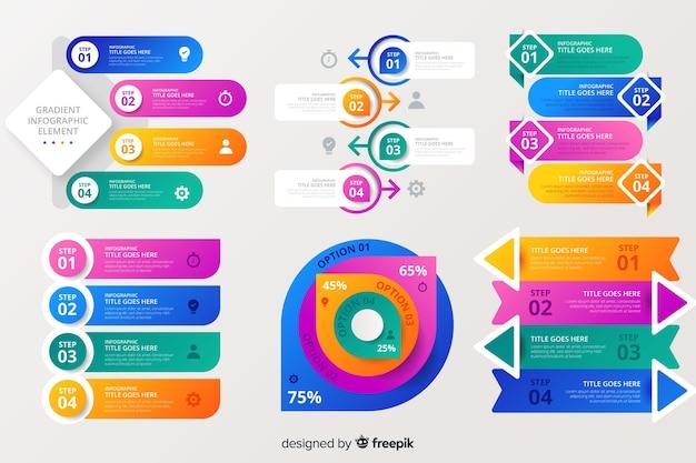 Verzameling kleurrijke infographic elementen