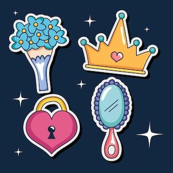 Verzameling meisjes- en prinsesstickers
