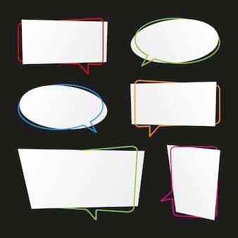 Verzameling moderne spraak bubbels