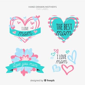 Verzameling moederdag-badge