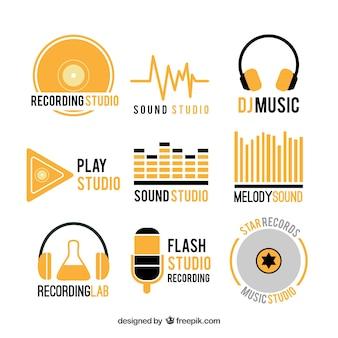 Verzameling muziek logo