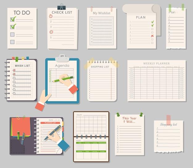 Verzameling notebook-sjablonen