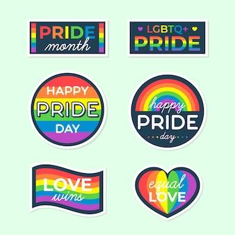 Verzameling regenboog trots labels