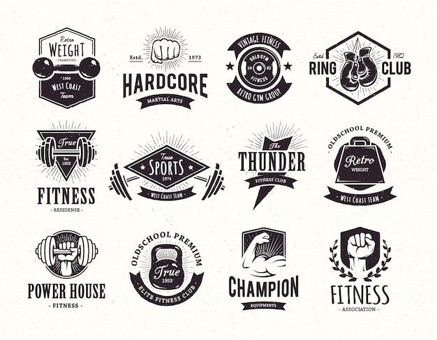 Verzameling retro emblemen