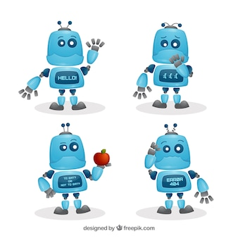 Verzameling robotkarakters