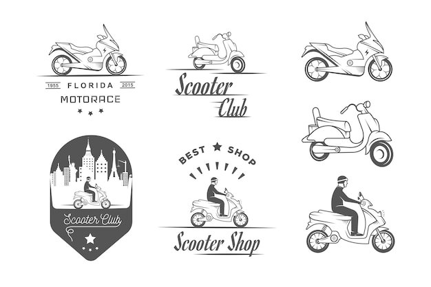 Verzameling scooterbadges