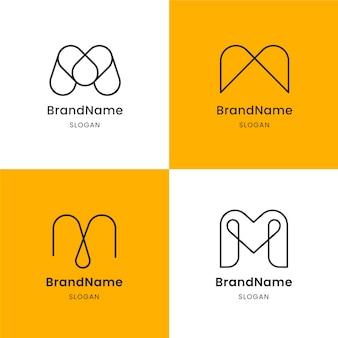 Verzameling sjablonen met m logo's