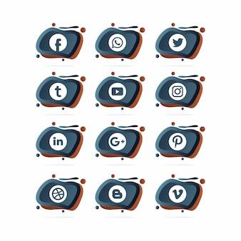 Verzameling sociale logo's