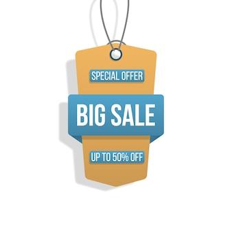 Verzameling tags grote verkoop winkelen etiketten op wit