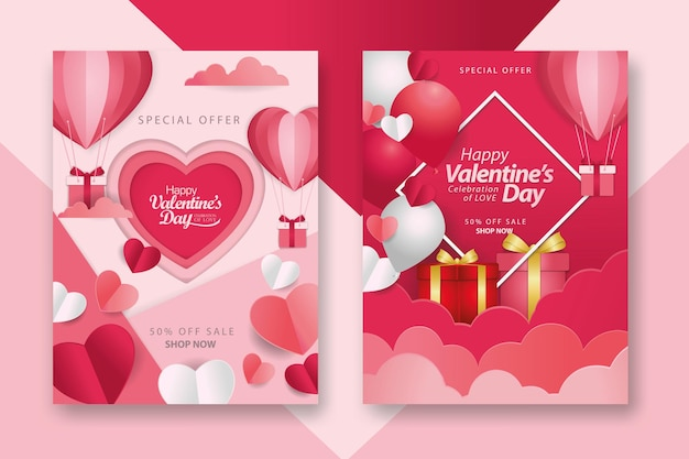 Verzameling valentijnsdagposters