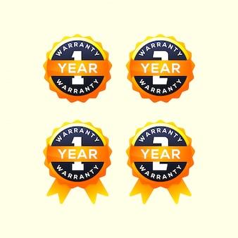 Verzameling van 1 jaar garantie-etiket