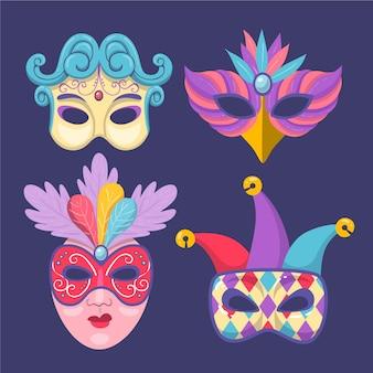 Verzameling van 2d maskerademaskers