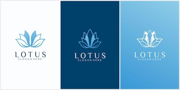 Verzameling van abstract lotuslogo